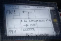 Navigation equipment on Isidre Esteve Pujol's bike