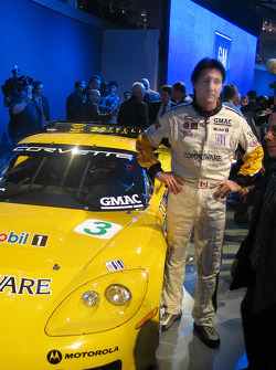 Ron Fellows with the C6R Corvette