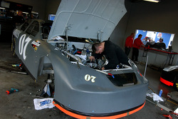 Engine work on the #07