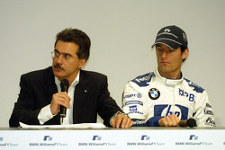 Dr Mario Theissen and Mark Webber
