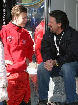 Dan Wheldon and Michael Andretti