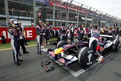Christian Klien on the starting grid