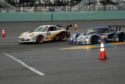 #94 Autometrics Motorsports Porsche GT3 Cup: Bransen Patch, Tom Soriano, #66 Krohn Racing/ TRG Pontiac Riley: Jorg Bergmeister, Max Papis