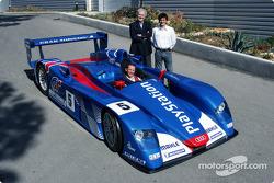 Team director Hugues de Chaunac with his drivers Jean-Marc Gounon and Stéphane Ortelli