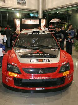 Mitsubishi Lancer WRC05 on display