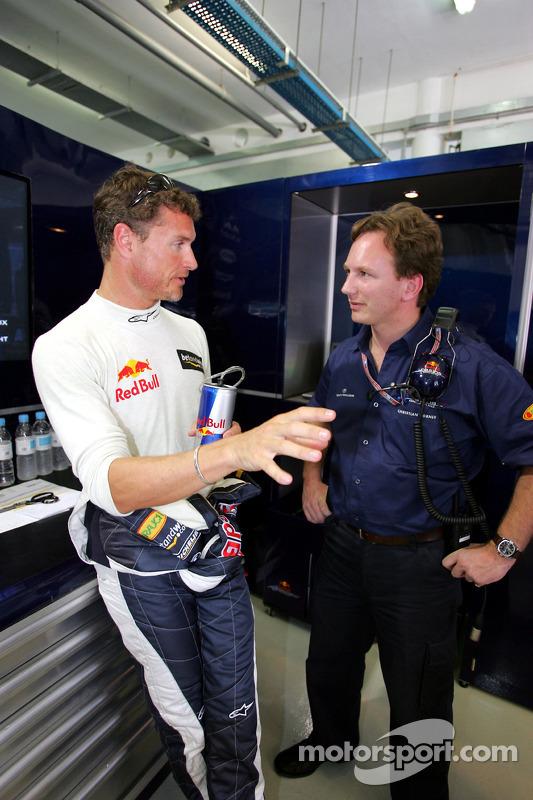 David Coulthard y Christian Horner