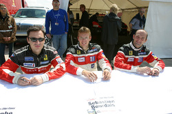 Christophe Bouchut, Sébastien Bourdais and Fabricio Gollin