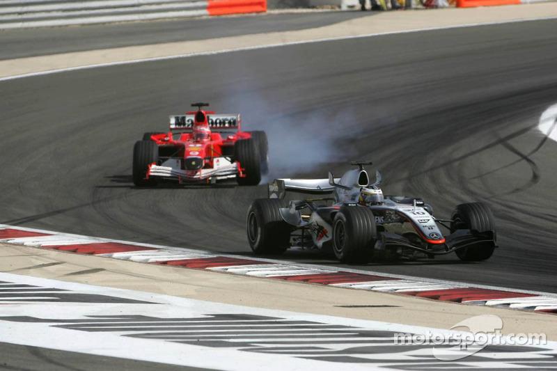 Pedro de la Rosa y Rubens Barrichello
