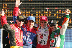 The AGR four musketeers: race winner Dan Wheldon with Bryan Herta, Dario Franchitti and Tony Kanaan