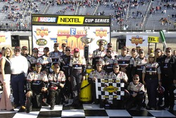 Race winner Kevin Harvick celebrates with his team