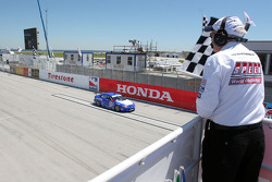 Randy Pobst takes the checkered flag