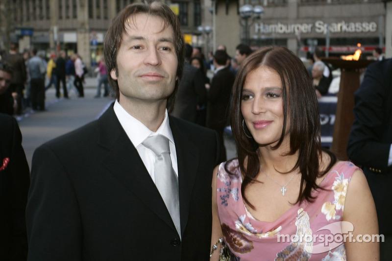 Heinz-Harald Frentzen and wife Tanja at DTM Presentation 2005, Hamburg