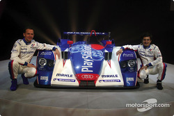Jean-Marc Gounon and Stéphane Ortelli with the Audi R8 of the Audi PlayStation Team ORECA