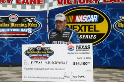 Pole check presentation to Ryan Newman