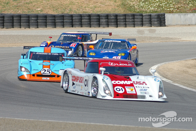 #01 CompUSA Chip Ganassi with Felix Sabates Lexus Riley: Luis Diaz, Scott Pruett, #25 Westernesse Racing Ford Crawford: Dominic Cicero II, Chad McQueen, John Bender