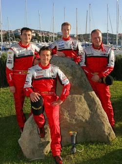 Mitsubishi Motors Motor Sports: Harri Rovanpera, Risto Pietilainen, Gianluigi Galli and Guido D'Amore
