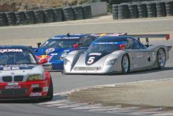 #58 Red Bull/ Brumos Racing Porsche Fabcar: David Donohue, Darren Law, #5 Essex Racing Ford Crawford: Joe Pruskowski, Justin Pruskowski