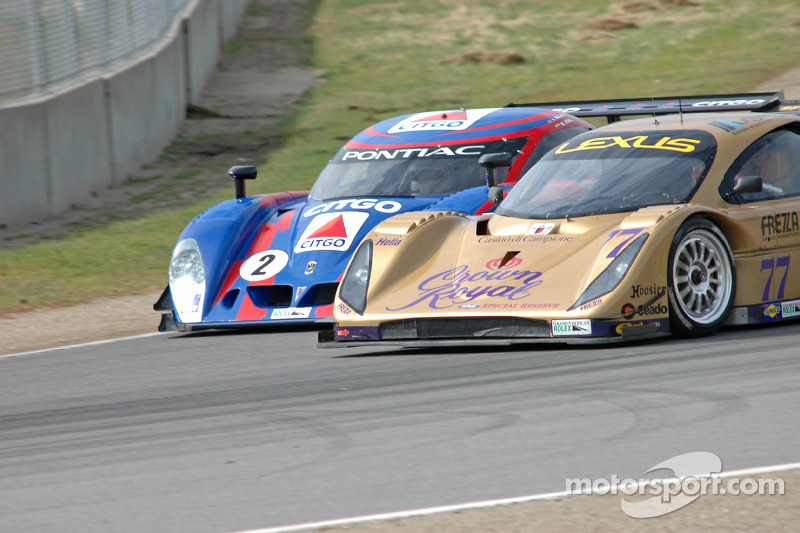La CITGO - Howard - Boss Motorsports Pontiac Crawford N°2 (Andy Wallace, Milka Duno) et la Doran Racing Lexus Doran N°77 ( Fabrizio Gollin, Matteo Bobbi)