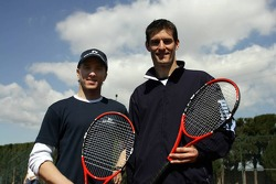 F1 Tennis Charity for the Northampton Intensive Care Unit at the Sanchez-Casal Open Tennis Academy: Nick Heidfeld and Mark Webber