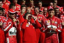 Ferrari photoshoot: Michael Schumacher and Rubens Barrichello