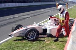 Wrecked car of Alex Premat