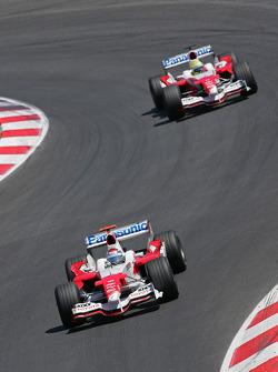Jarno Trulli and Ralf Schumacher