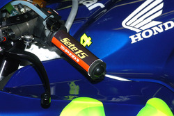 Detail of the Gresini Racing Honda bike