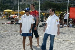 RTL beach volley match: Jacques Villeneuve, Felipe Massa and Alexander Wurz