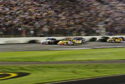 Mark Martin leads the restart after Ryan's crash