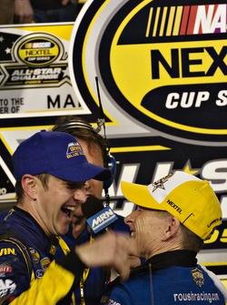 Kurt Busch congratulates Mark Martin