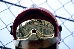 Reflection of Fernando Alonso