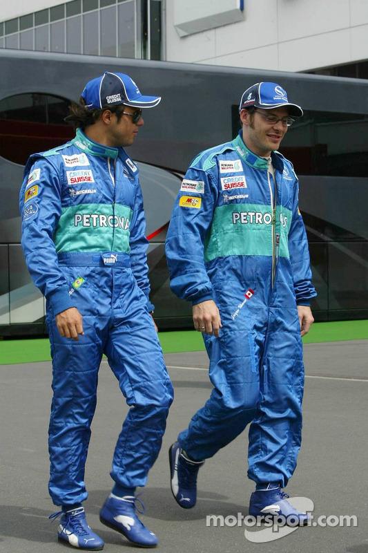 Felipe Massa y Jacques Villeneuve