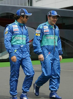 Felipe Massa and Jacques Villeneuve