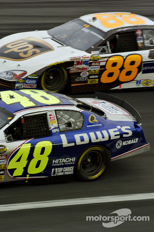 Dale Jarrett y Jimmie Johnson