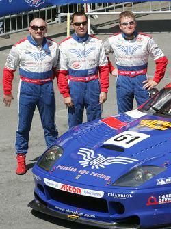 #61 Cirtek Motorsport Ferrari 550 Maranello: Nikolaj Fomenko, Alexei Vasiliev, Christophe Bouchut