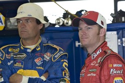 Michael Waltrip and Dale Earnhardt Jr.