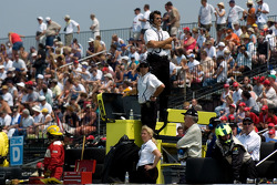 Carl Russo watches race action