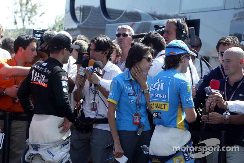 Interviews for Juan Pablo Montoya and Fernando Alonso