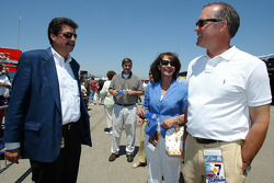 Ryne Sandberg former Chicago Cubs player with Mike Helton NASCAR president