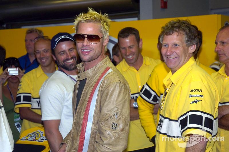 Brad Pitt visits Yamaha Team
