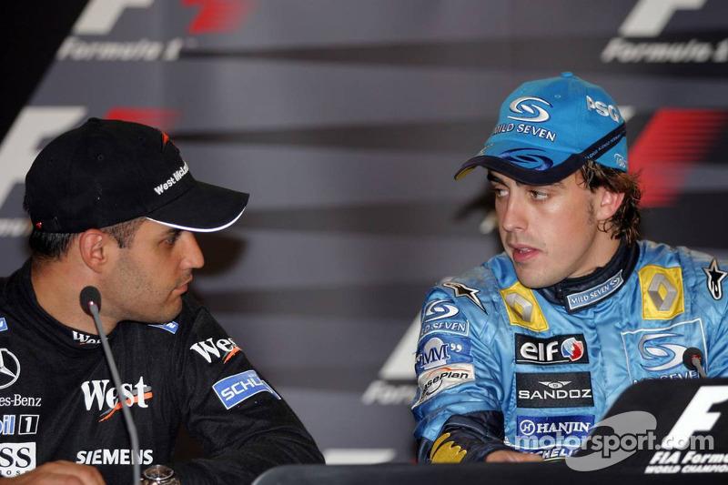 Conferencia de prensa: ganador de la carrera Fernando Alonso con Montoya
