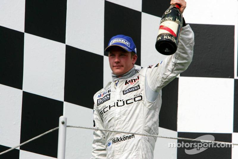 Kimi Raikkonen, ganador del GP de Hungría 2005