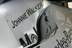 Johnnie Walker sponsorship on the McLaren