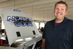 NASCAR Field Manager Ben Leslie is all smiles during the testing of the 2006 Ford Fusion