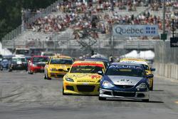 #27 Bill Fenton Motorsports Acura RSX - S: Eric Curran, Bob Endicott leads #70 SpeedSource Mazda RX-8: David Haskell, Sylvain Tremblay
