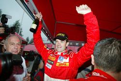 Winner Marcus Gronholm celebrates