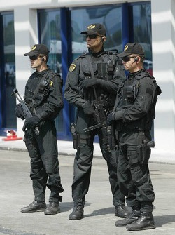 Armed forces on duty