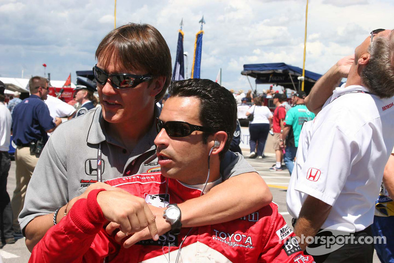 Adrian Fernandez y Helio Castroneves