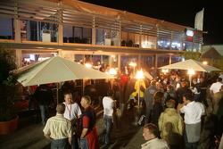 The Audi hospitality area as a beach club