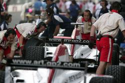 ART Grand Prix team members at work